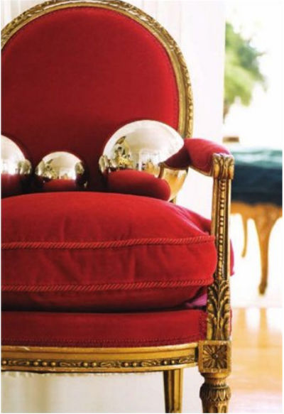 red, chair, decor, holiday